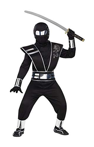 Horror-Shop Ninja Kostüm mit Spiegelreflektoren L (Spiegel Ninja Kostüm)