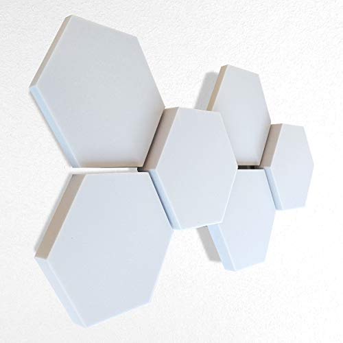 6 Basotect ® G+ Schallabsorber 3D-Set Hexagon Akustik Elemente