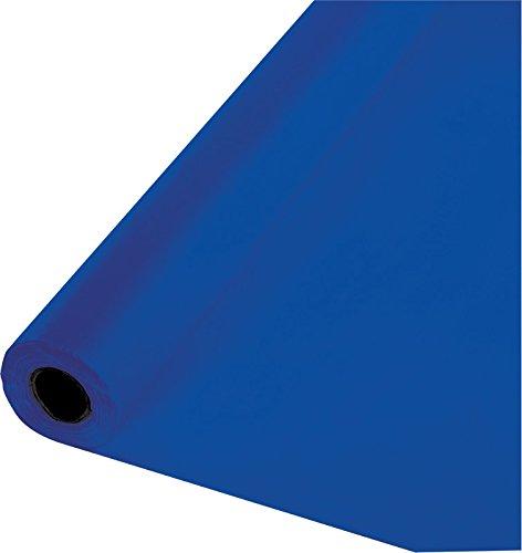 30 Meter Rolle Plastik Tischdecke Cobalt Blau (Tischdecke Blaue Roll)