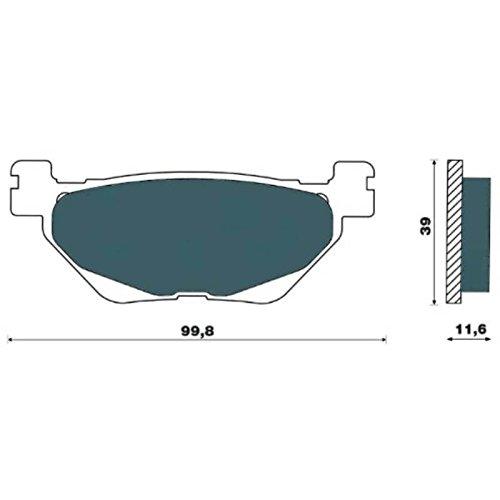 COPPIA PASTIGLIE FRENI SINTERIZZATE POSTERIORI T-MAX 530 2012-13