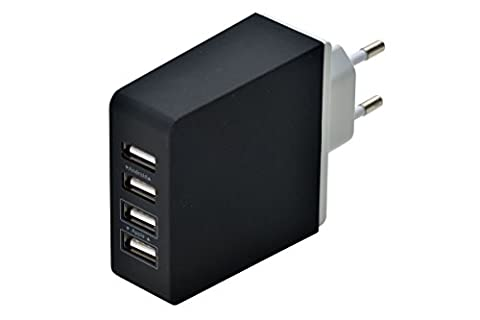aricona Dual USB HUB Ladekabel Adapter Station– mehrfach USB Stecker Ladestation mit Netzteil, Universal Ladegerät mit Quick Charge: Apple & Android Smartphone,