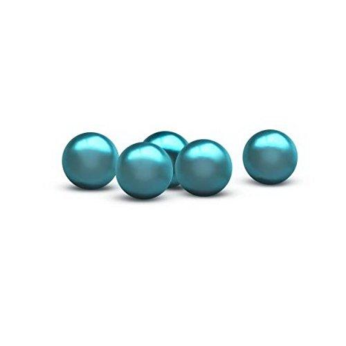 Streudeko PEARLS - Perlen aus Kunststoff - Aqua / Türkis - 12 mm - ca. 250 Stk. Dekoperlen - Tafeldeko - Tischdeko für Hochzeit, Taufe, Geburtstag, Gartenparty, Jubiläum, Kommunion, Konfirmation
