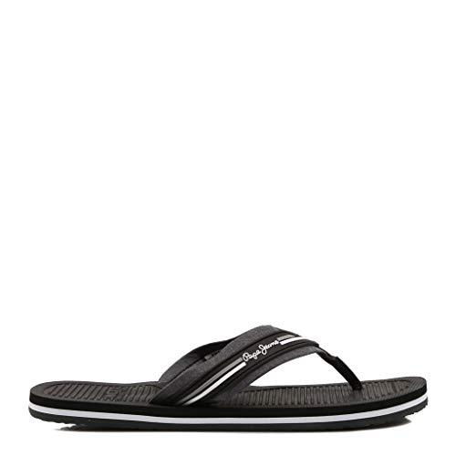 Pepe Jeans, Off Beach Black PMS90065,Flip Flops für Männer, 43 -