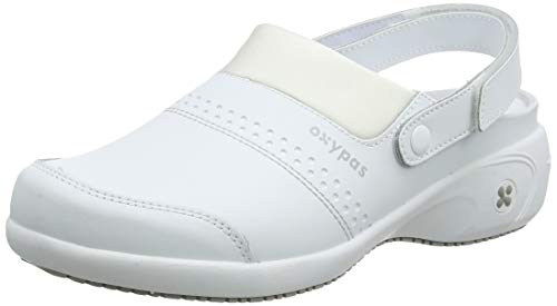 Oxypas Move Up Sandy Slip-resistant, Antistatic Nursing Clogs with Heel in White Size EU 39 / UK 6 -