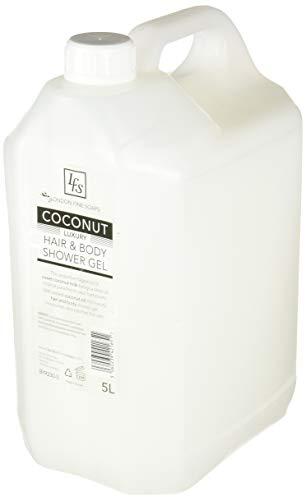 London feine Seifen byr230-5LFS Coconut Luxus Hair und Body Dusche Gel, 5l (2Stück)