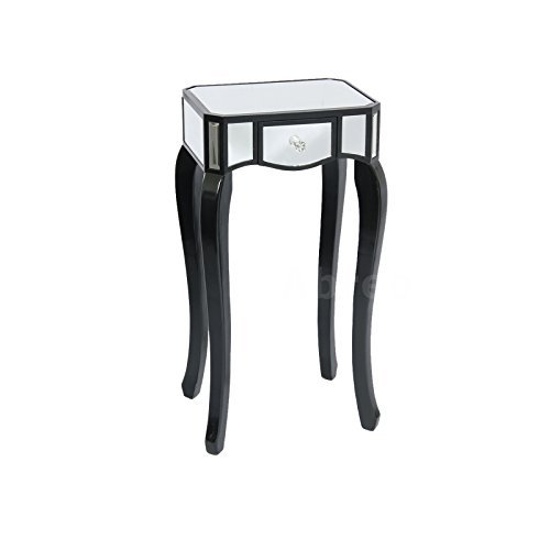 Buy Mirrored Console Table 3 Drawer Bedside Table Chest Of Drawers Coffee Table Small Black