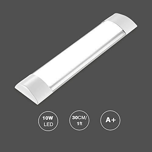 10W Plafoniera Led,Bellanny 30cm Ultra sottile Luce Sottopensile lampada Barra LED Cucina 1200lm 3200k per cucina,bagno,soggiorno,Showroom, ufficio, Bookshelf,officina