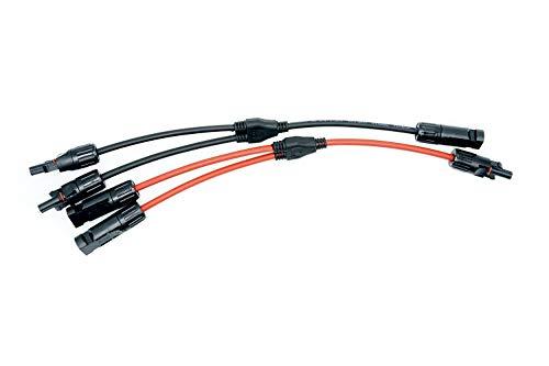 WATTSTUNDE MC4 kompatible Abzweigbuchse - Y-Stecker Set zum parallelschalten von 2 Solaranlagen (MC4.2 Abzweigbuchse)