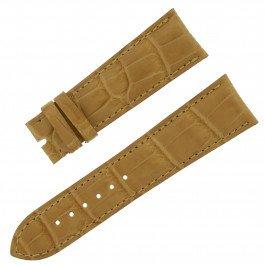 Chopard 22–18mm matt Honig Echt Alligator Leder Herren-Armbanduhr Band