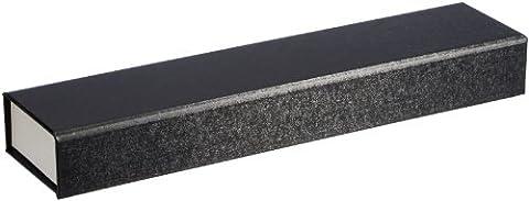 MTS Watch / Bracelet Jewellery Case Box Black / White Gift Packaging -Universal Magnetic Closure 6 x 26 CM Cardboard 07388 (Environmentally