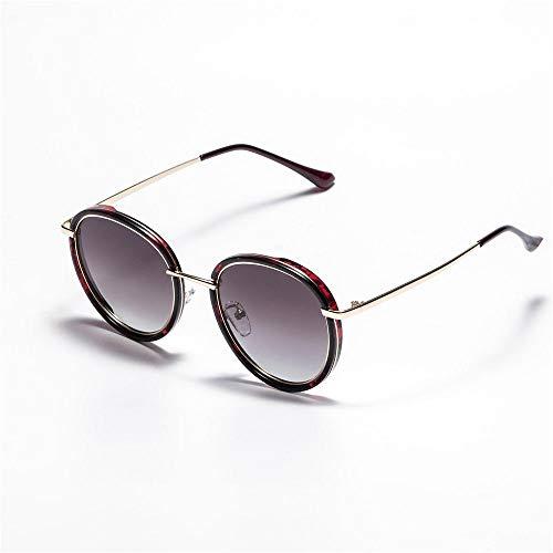 MJ Glasses Sonnenbrillen Polarisiertes rundes polarisiertes männliches und weibliches Licht, C