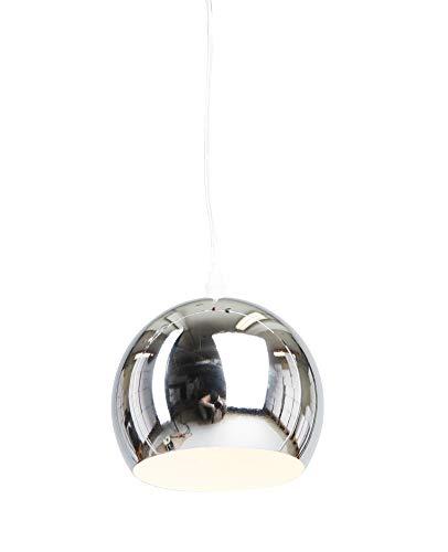 Kleine Hängeleuchte Trias Uno chrom 15 cm Ø/optimal für Bartresen oder Flur (Pendelleuchte Hängelampe Deckenlampe Pendellampe Deckenleuchte) - Kleine Hängeleuchte