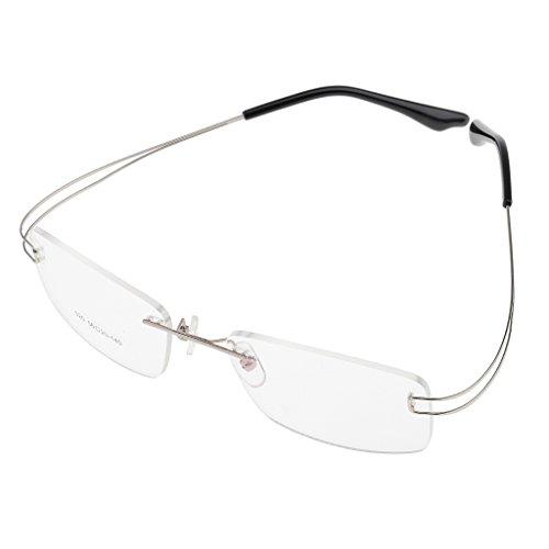 MagiDeal Brillenfassung Randlos Memory Metall Brillengestell, Ultraleicht, elegantes Design -...