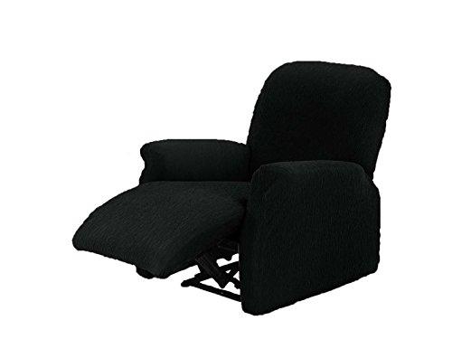 Textilhome - Stretchhusse für Relaxsessel Komplett TEIDE , 1 Sitzer - 70 a 100Cm. Farbe Schwarz