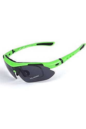 SMTD Herren und Damen Polarisierte Sportsonnenbrille Angeln&Golf&Baseball Gläser Ski&Beachvolleyball-Spielen UV-Schutz Sonnenbrille Fluorescent Green