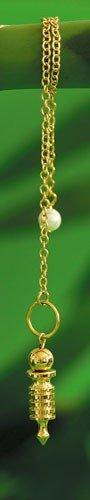 Berk PE-0560 - Péndulo Isis para radiestesia (pequeño), color dorado