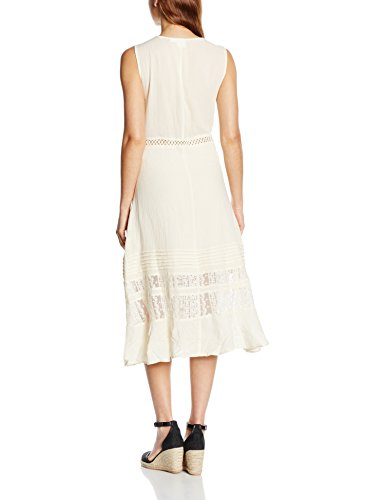 Somedays Lovin Fortune Peasant Midi Dress, Robe Femme Beige - Beige (Cream)