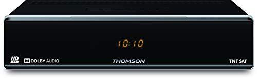 THOMSON THS804 Décodeur + Carte TNTSAT Canal Plus Ready, terminal de réception HD avec lecteur de carte Viaccess (HDMI, Péritel, USB, compatible avec prise allume cigare 12 V) Noir