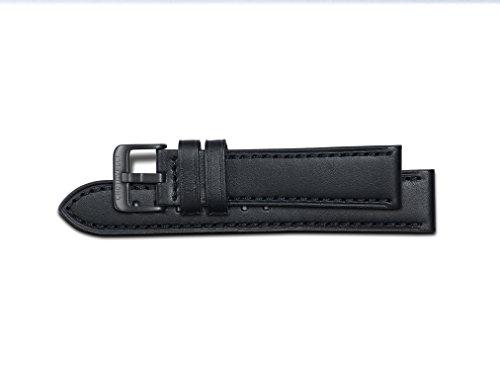 Chotovelli - Italienisches Leder - Schwarzes ArmBand -22MM