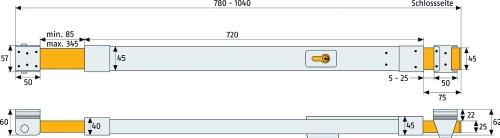 ABUS Tür-Panzerriegel PR1500, silber, 04649 - 2