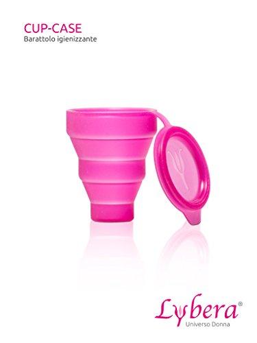 Reinigungs- und Aufbewahrungsbecher für Menstruationstasse Lybera I Becher zur Sterilisation I Aufbewahrung I Sterilisation in der Mikrowelle oder mit Reinigungstabletten I pink