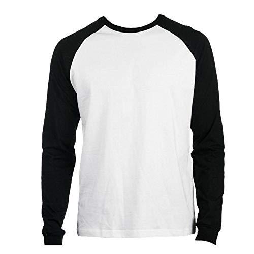 Promodoro - Baseball Shirt Heavy Jersey XXL,White/Black (Erwachsenen-raglan-langarm)