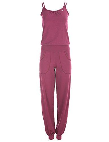 Winshape Damen Jumpsuit WJS1, Fitness Freizeit Sport Yoga Pilates, Berry-Love, M
