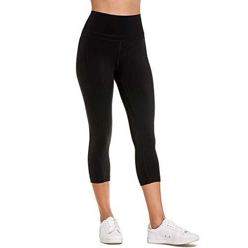 Länge Athletische Socken Schwarz (ABsoar Damen Traininghose Frauen Sport Yoga Gamaschen mit Taschen Athletische Hosen Laufen Leggings Strumpfhose Jogging Freizeithosen)