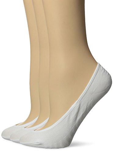 k No Show Liner Socks, White, shoe size 5-10(sock size 9-11) ()