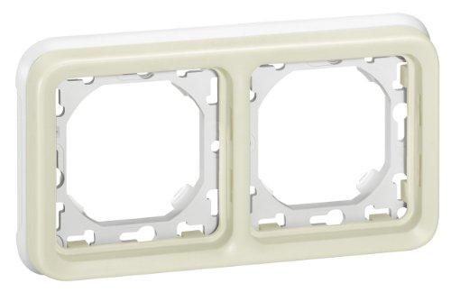 Legrand Plexo LEG69965 - Marco embellecedor (2 elementos, montaje horizontal, de empotrar,...
