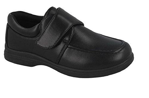Boys School Shoes Hook \u0026 Loop Closure