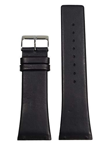 Skagen Uhrband Wechselarmband LB-584LSLM Original Ersatzband 58 LSLM Uhrenarmband Leder 27 mm Schwar