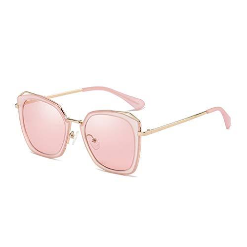 Mode polarisierte Sonnenbrille für Frauen, UV400 verspiegelte Linse - rot
