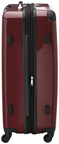 HAUPTSTADTKOFFER – Alex – Set of 3 Hard-side Luggages Glossy Suitcase Hardside Spinner Trolley Expandable (S, M & L) Burgundy
