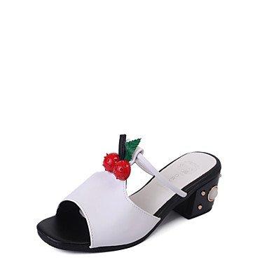 Donne'spantofole & flip-flops Primavera Estate Comfort PU Casual Chunky tacco US8 / EU39 / UK6 / CN39