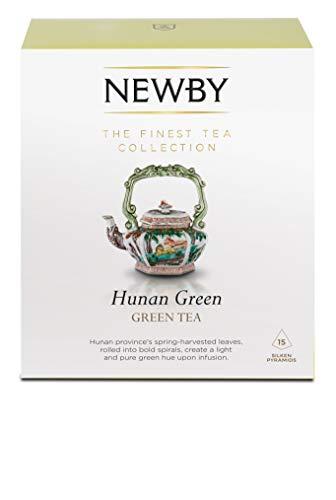 Newby Teas Silken Pyramids Hunan Green Tea 38 g (Pack of 1, Total 15)