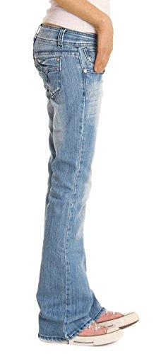 Bestyledberlin Damen Jeanshosen, Hüftjeans / Bootcutjeans j06x 36/S -