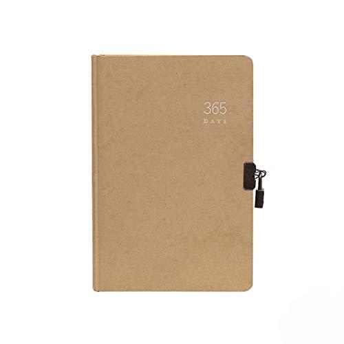 Meet's shop Notiz- & Tagebücher A5 Mit Schloss Agenda Wöchentlich Täglich 365 Planer Kraftpapier Notebook Bibel Büro Schulbedarf Schreibwaren Retro Bücher Bürobedarf & Schreibwaren (Color : B)