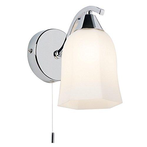Wall light with pull cord amazon endon alonso 1lt wall 40w chrome effect plate matt opal glass by endon lighting aloadofball Choice Image