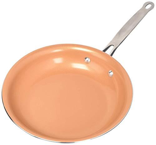 Sartén de Aluminio, Cobre Sartenes Master Copper, Antiadherentes con revestimiento de cerámica, para Todo Tipo de cocinas Incluido Inducción,26cm