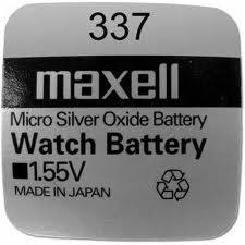 Pila Maxell 337 - Óxido de plata - Pila de larga duración Producto nuevo de calidad