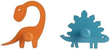 Flyfrog Kids Wall Hooks,Set of 2 Wall Hooks,Door Hooks,Bathroom Hooks for Kids,Load Capacity 5kg : Dinosaur