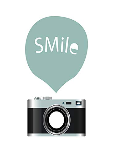 SHBKGYDL Imprimir En Lienzo Impresiones De Lienzo,Cámara Negra Sonrisa Simple Caricatura, Hogar De Pared Decoración Art Deco Pintura Porche Restaurante Salón Dormitorio Comedor Pasarela