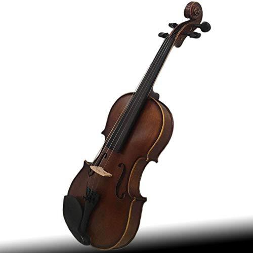QWEYA Natural Acoustic Wood Wood Fichte Ahornschlieger Violine Beginner Schüler Fall Rosin (1/8, 1/4, 1/2, 3/4, 4/4),43cm1/8