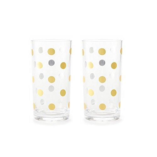 Highball Gläser Gold Dots 2er Set -