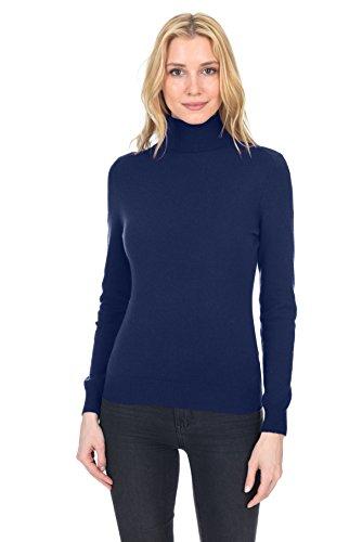 STATE FUSIO langärmliger Pullover aus Kaschmirwolle mit Rollkragen für Damen, Premium-Qualität (Design Kaschmir-pullover)