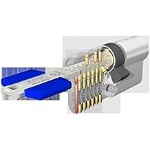 Tesa TX80 - Cilindro de alta seguridad, de llave reversible de puntos y 8 pitones (latonado)