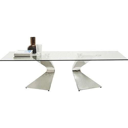 Kare Design - Table Basse Design en Verre et Chrome Gloria