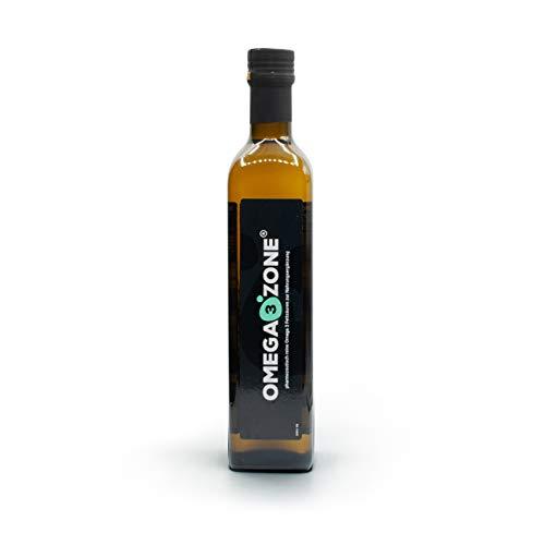 Omega 3 Fischöl flüssig bei erhöhtem Bedarf (z.B. Stress o. Sport), hochdosiert: 4694 mg pro Portion, mit Zitronengeschmack, 500 ml, Deutsche Premium-Qualität von Omega3 Zone