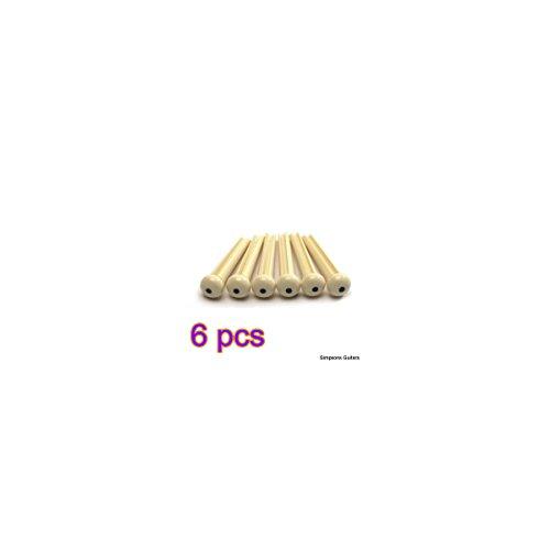 Brücke Gitarre Akustische (cofco cofco–6PCS Brücke Pins für Akustische Gitarre, cremefarben mit Schwarz Punkt)